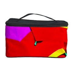 Umbrella Color Red Yellow Green Blue Purple Cosmetic Storage Case by AnjaniArt