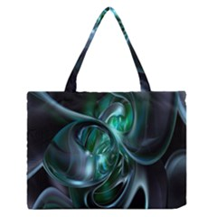 Ws Blue Green Float Medium Zipper Tote Bag by AnjaniArt