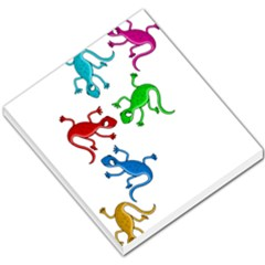 Colorful Lizards Small Memo Pads by Valentinaart
