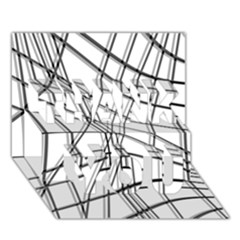 White And Black Warped Lines Thank You 3d Greeting Card (7x5)