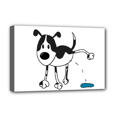 My Cute Dog Deluxe Canvas 18  X 12   by Valentinaart