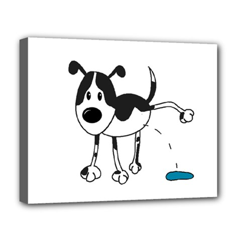 My Cute Dog Deluxe Canvas 20  X 16   by Valentinaart
