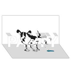 My Cute Dog Party 3d Greeting Card (8x4) by Valentinaart