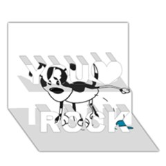 My Cute Dog You Rock 3d Greeting Card (7x5) by Valentinaart