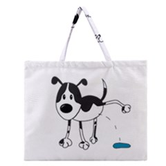 My Cute Dog Zipper Large Tote Bag by Valentinaart