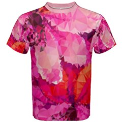 Geometric Magenta Garden Men s Cotton Tee by DanaeStudio