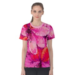 Geometric Magenta Garden Women s Cotton Tee