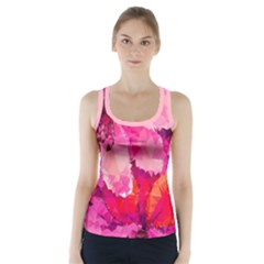 Geometric Magenta Garden Racer Back Sports Top
