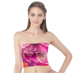 Geometric Magenta Garden Tube Top