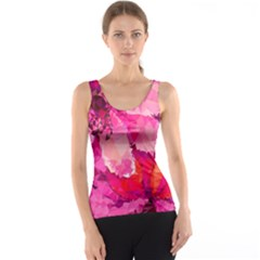 Geometric Magenta Garden Tank Top by DanaeStudio