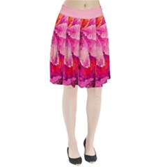 Geometric Magenta Garden Pleated Skirt by DanaeStudio