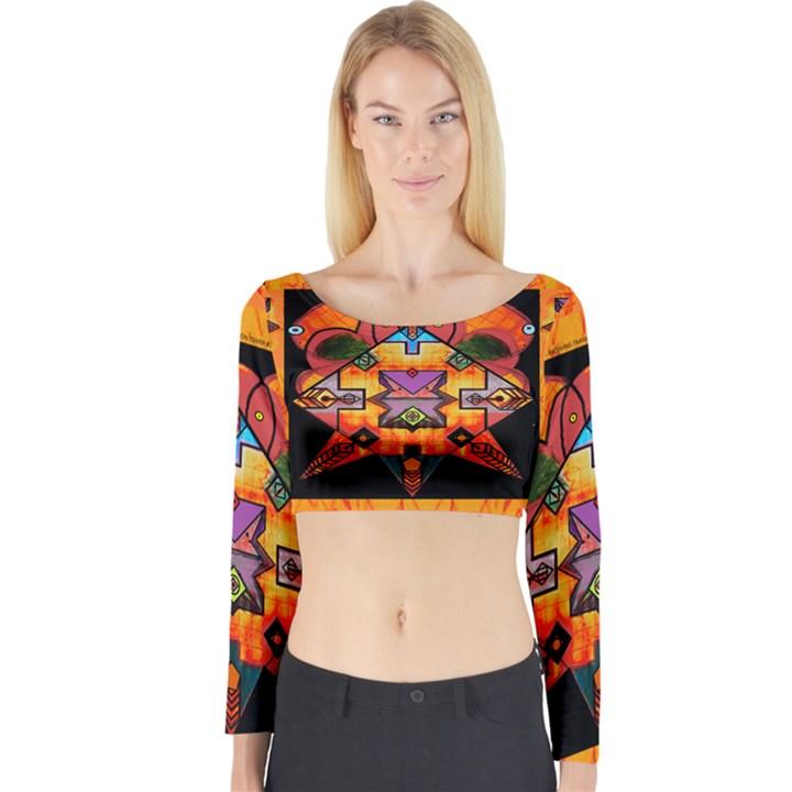Clothing (20)6k,kk Long Sleeve Crop Top