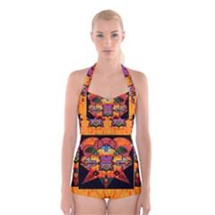 Clothing (20)6k,kk Boyleg Halter Swimsuit