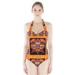 Clothing (20)6k,kk Halter Swimsuit