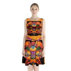 Clothing (20)6k,kk Sleeveless Chiffon Waist Tie Dress