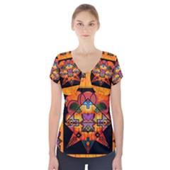 Clothing (20)6k,kk Short Sleeve Front Detail Top