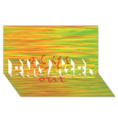 Chill Out Engaged 3d Greeting Card (8x4)
