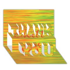 Chill Out Thank You 3d Greeting Card (7x5) by Valentinaart