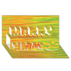 Chill Out Merry Xmas 3d Greeting Card (8x4) by Valentinaart