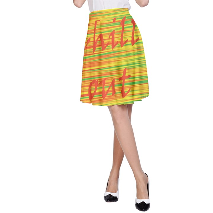 Chill out A-Line Skirt