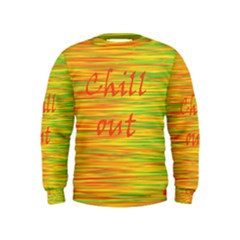 Chill Out Kids  Sweatshirt by Valentinaart