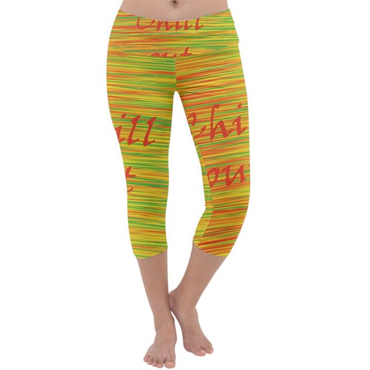 Chill out Capri Yoga Leggings