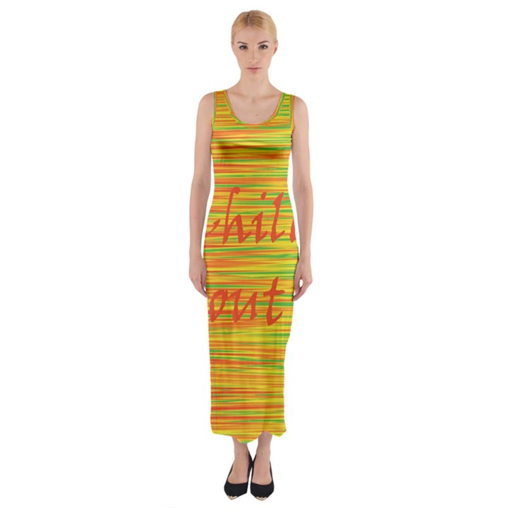 Chill out Fitted Maxi Dress