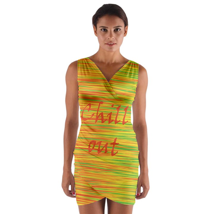 Chill out Wrap Front Bodycon Dress
