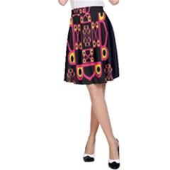 Letter R A Line Skirt