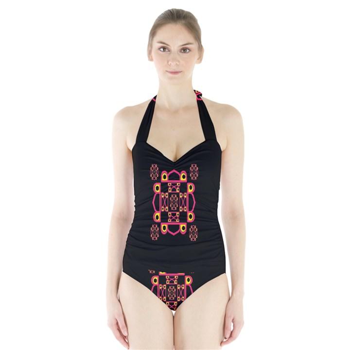 LETTER R Halter Swimsuit