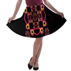 Letter R A Line Skater Skirt