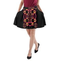 Letter R A Line Pocket Skirt