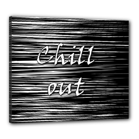 Black An White  chill Out  Canvas 24  X 20  by Valentinaart