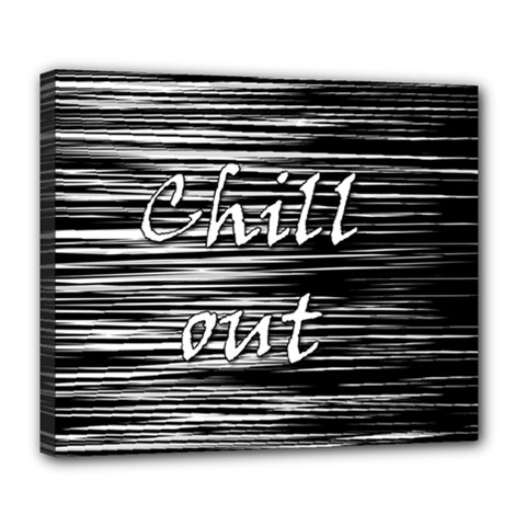 Black An White  chill Out  Deluxe Canvas 24  X 20   by Valentinaart