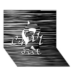 Black An White  chill Out  Ribbon 3d Greeting Card (7x5)