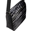 Black an white  Chill out  Flap Messenger Bag (L)  View2
