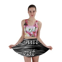 Black An White  chill Out  Mini Skirt