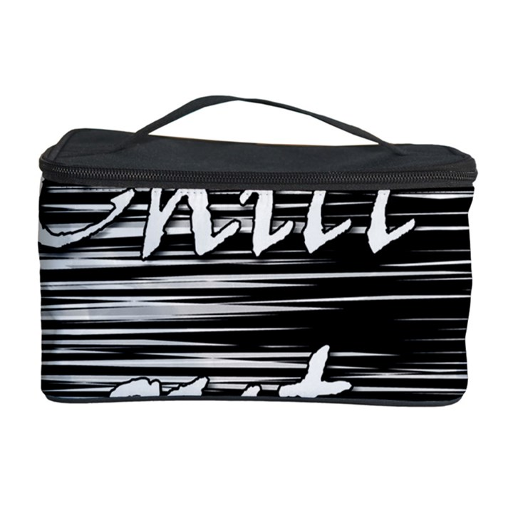 Black an white  Chill out  Cosmetic Storage Case
