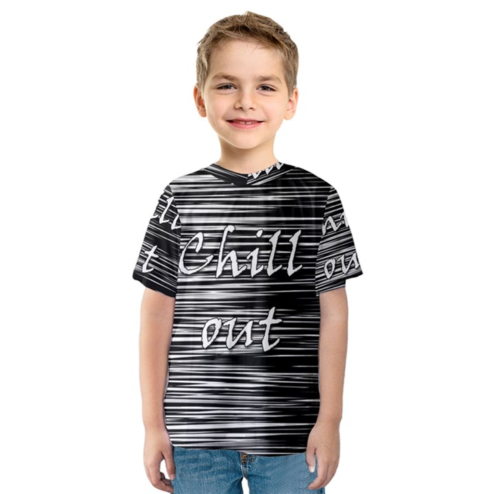 Black an white  Chill out  Kids  Sport Mesh Tee