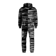 Black An White  chill Out  Hooded Jumpsuit (kids)