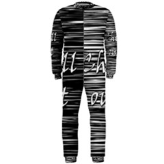 Black An White  chill Out  Onepiece Jumpsuit (men)