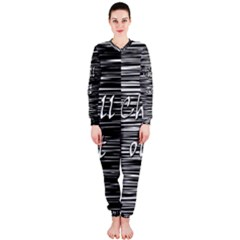 Black An White  chill Out  Onepiece Jumpsuit (ladies)