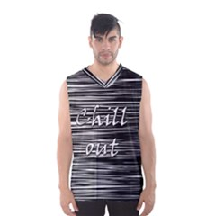 Black An White  chill Out  Men s Basketball Tank Top