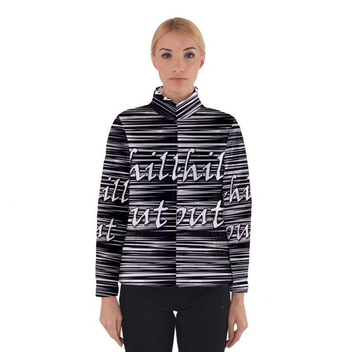 Black an white  Chill out  Winterwear