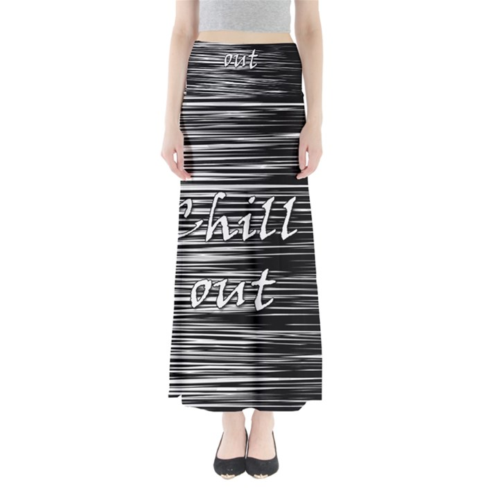Black an white  Chill out  Maxi Skirts