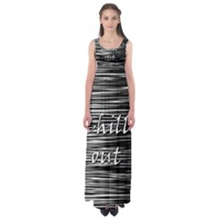 Black An White  chill Out  Empire Waist Maxi Dress