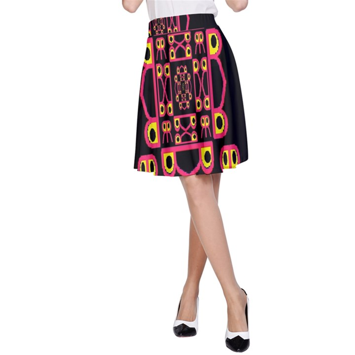 Alphabet Shirt A-Line Skirt