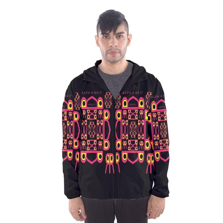 Alphabet Shirt Hooded Wind Breaker (Men)