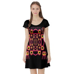 Alphabet Shirt Short Sleeve Skater Dress by MRTACPANS