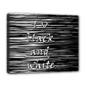 I love black and white Deluxe Canvas 20  x 16   View1